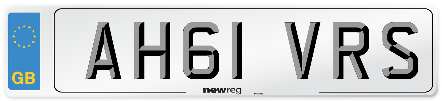 AH61 VRS Number Plate from New Reg