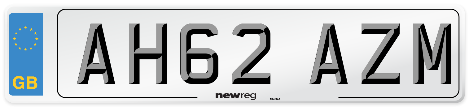 AH62 AZM Number Plate from New Reg