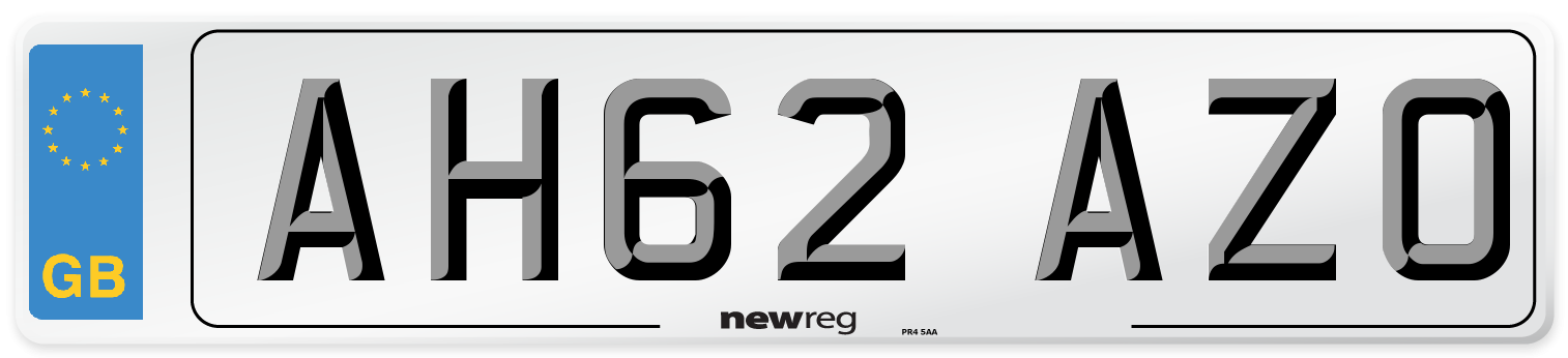 AH62 AZO Number Plate from New Reg
