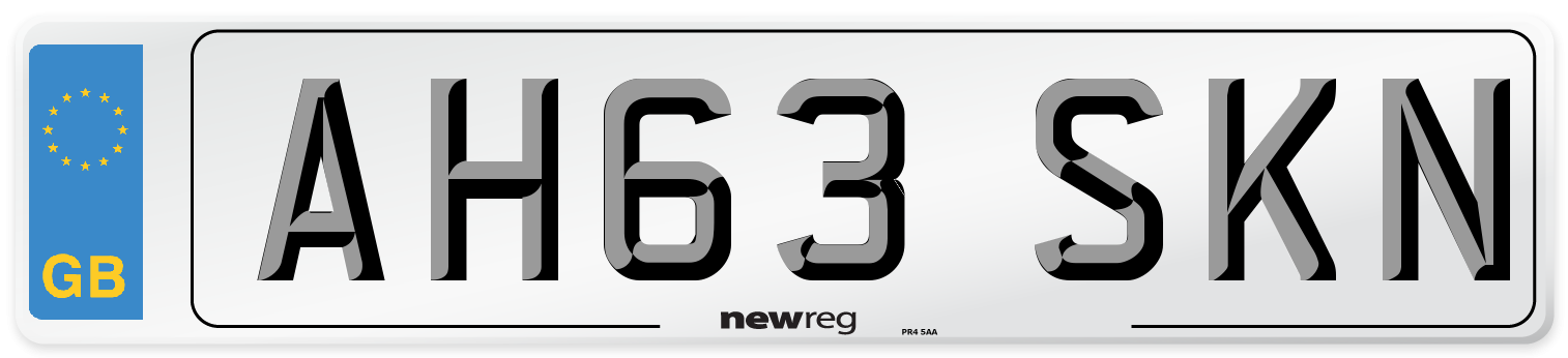 AH63 SKN Number Plate from New Reg