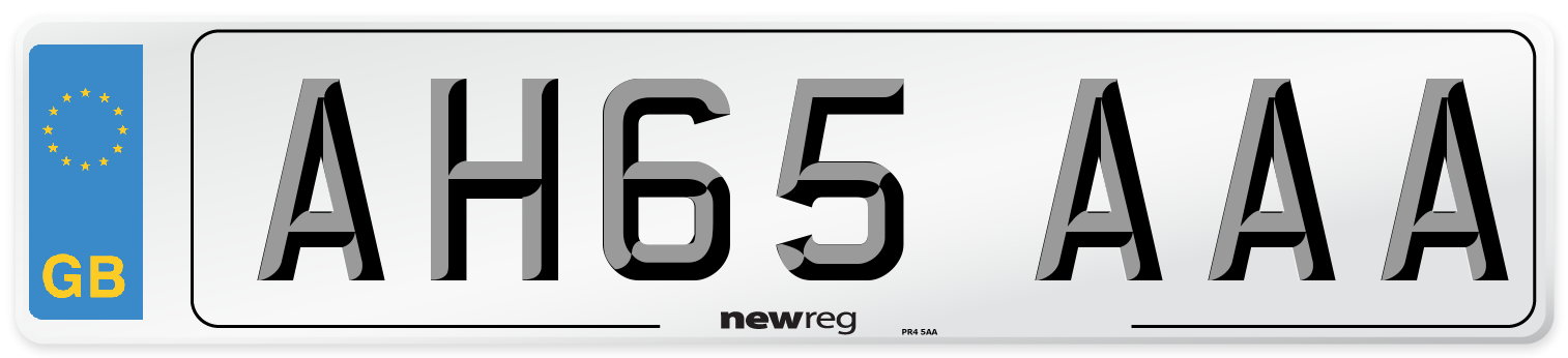 AH65 AAA Number Plate from New Reg