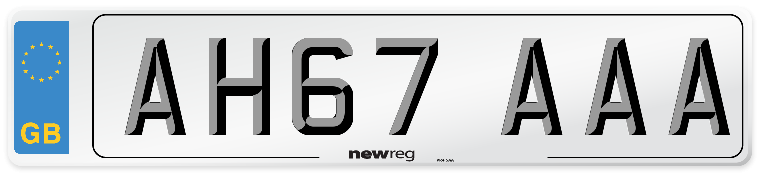 AH67 AAA Number Plate from New Reg
