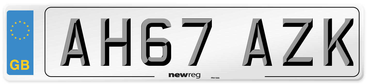 AH67 AZK Number Plate from New Reg