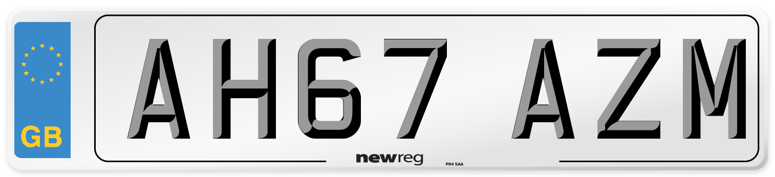 AH67 AZM Number Plate from New Reg