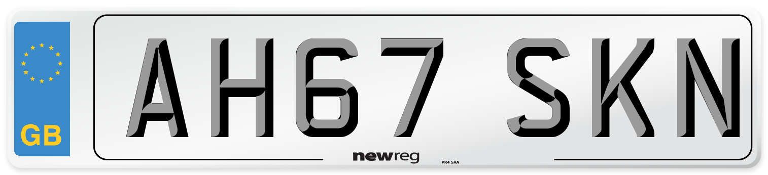 AH67 SKN Number Plate from New Reg