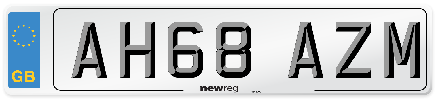 AH68 AZM Number Plate from New Reg