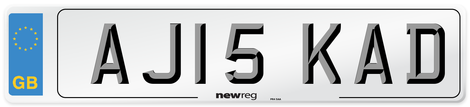 AJ15 KAD Number Plate from New Reg