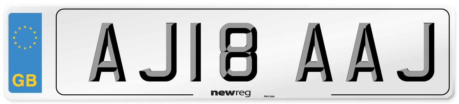 AJ18 AAJ Number Plate from New Reg