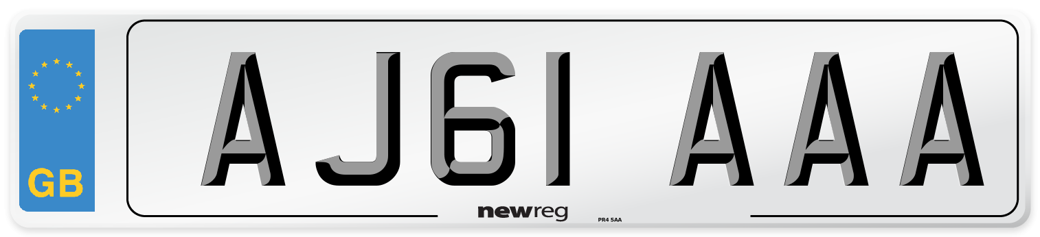 AJ61 AAA Number Plate from New Reg
