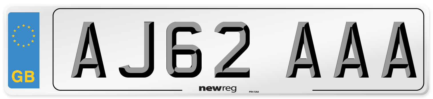 AJ62 AAA Number Plate from New Reg