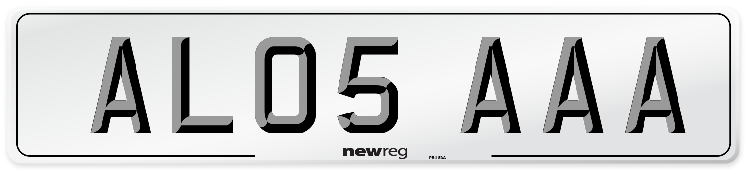 AL05 AAA Number Plate from New Reg