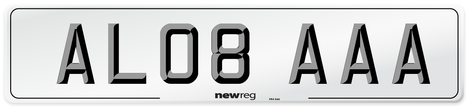 AL08 AAA Number Plate from New Reg