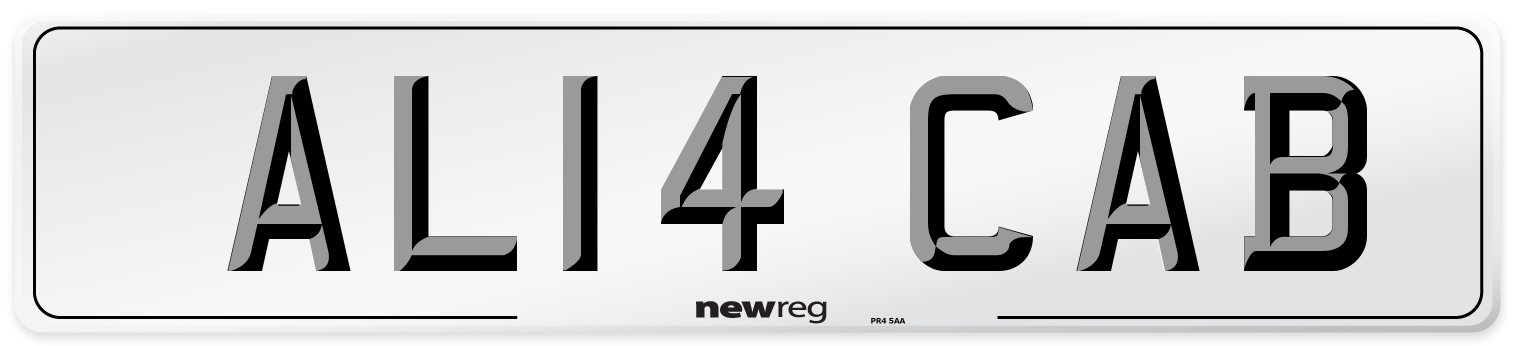 AL14 CAB Number Plate from New Reg