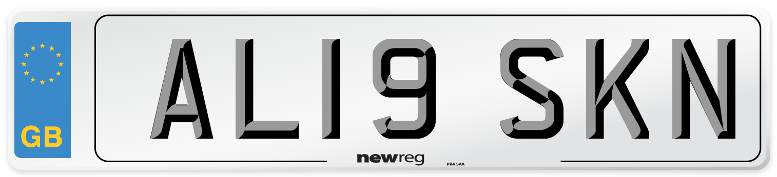 AL19 SKN Number Plate from New Reg