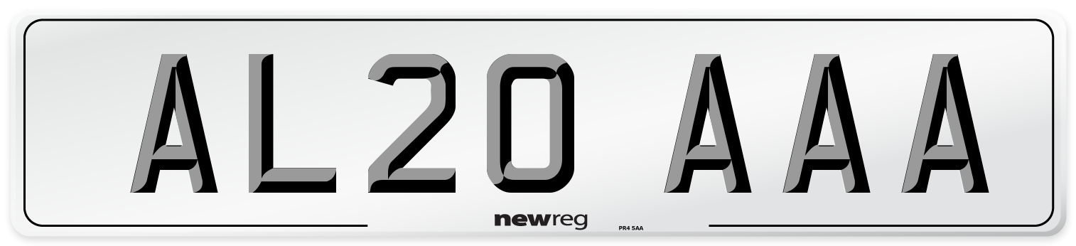 AL20 AAA Number Plate from New Reg