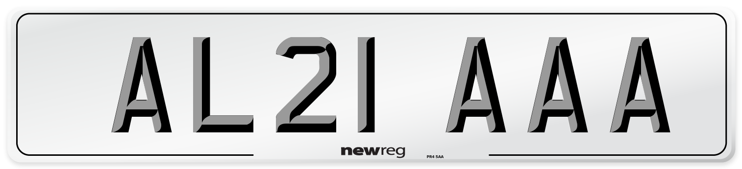 AL21 AAA Number Plate from New Reg