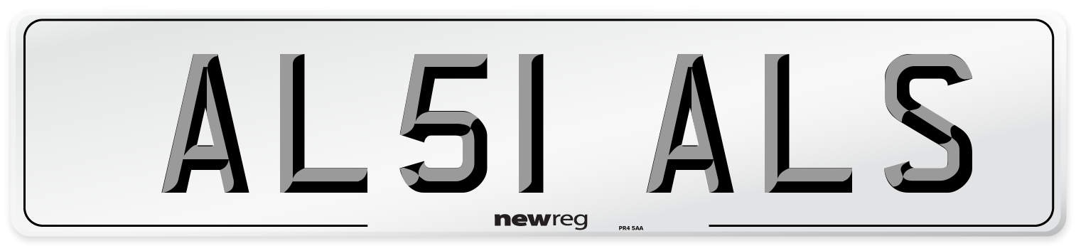 AL51 ALS Number Plate from New Reg