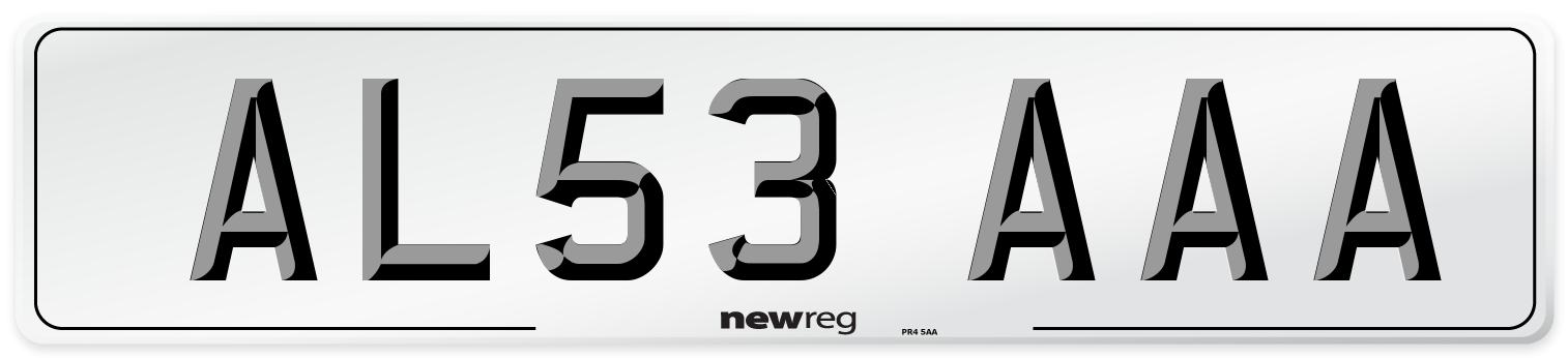 AL53 AAA Number Plate from New Reg
