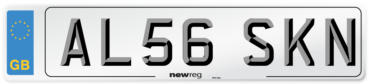 AL56 SKN Number Plate from New Reg