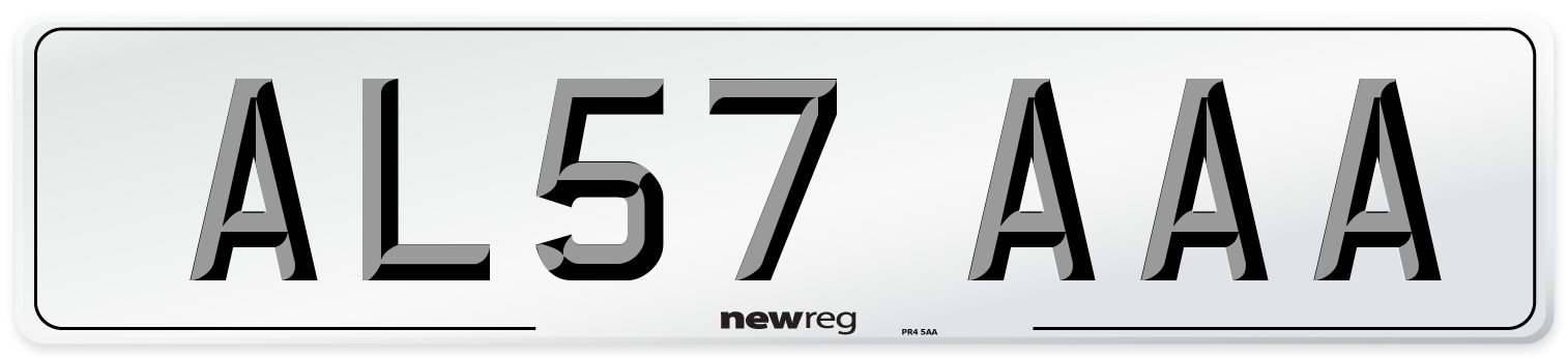 AL57 AAA Number Plate from New Reg