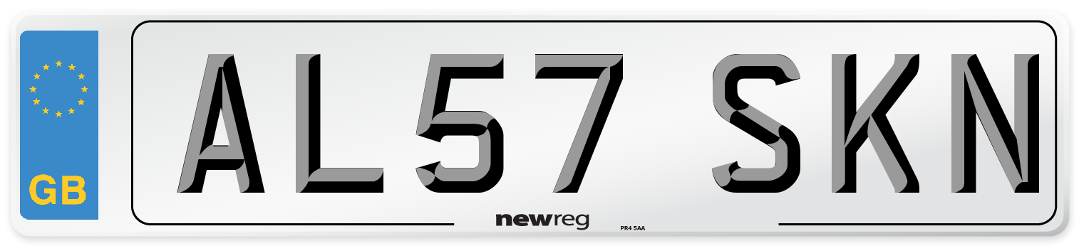 AL57 SKN Number Plate from New Reg