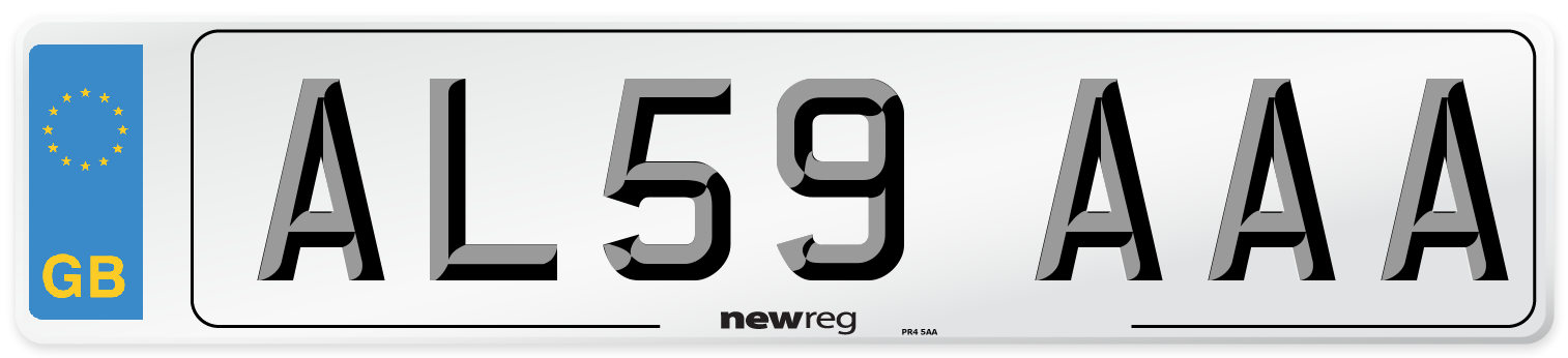 AL59 AAA Number Plate from New Reg