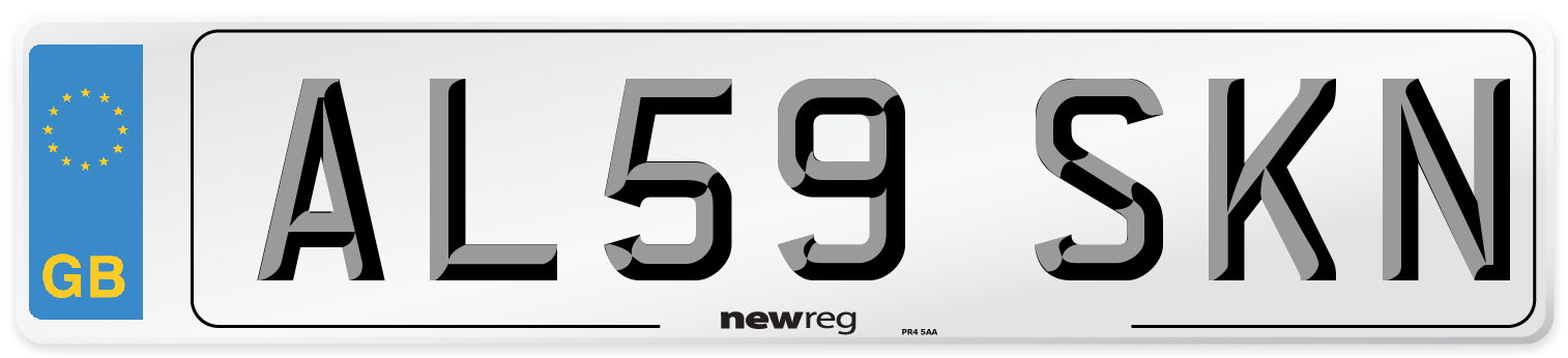 AL59 SKN Number Plate from New Reg