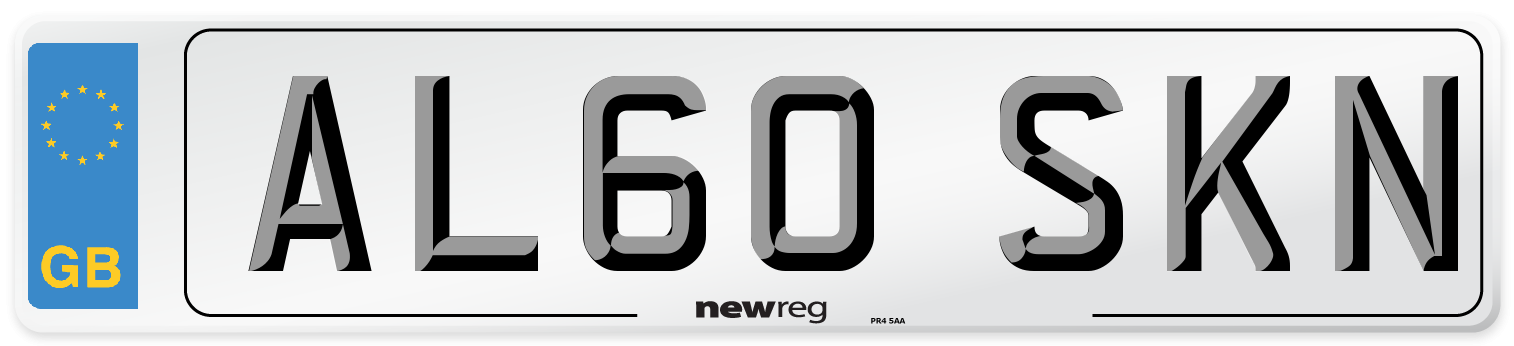 AL60 SKN Number Plate from New Reg