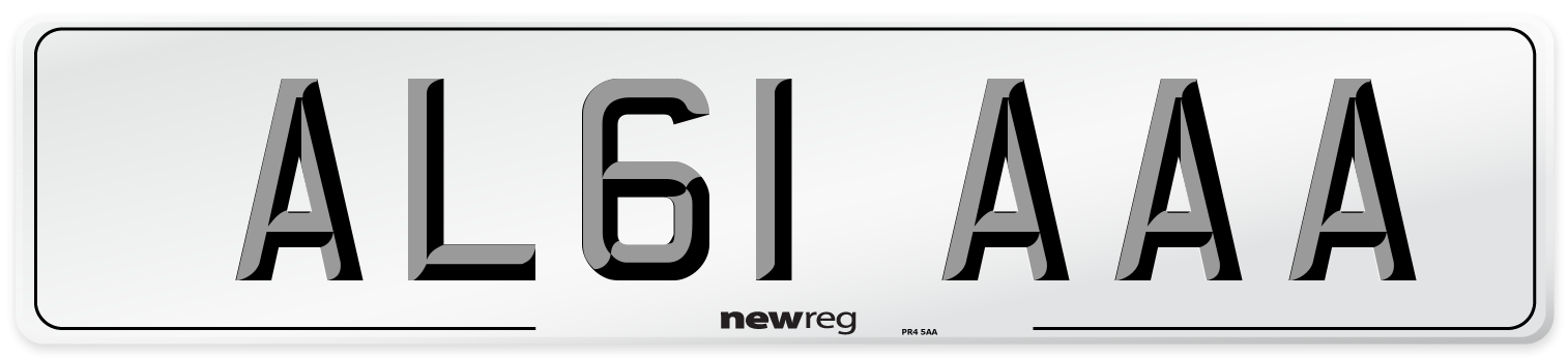 AL61 AAA Number Plate from New Reg