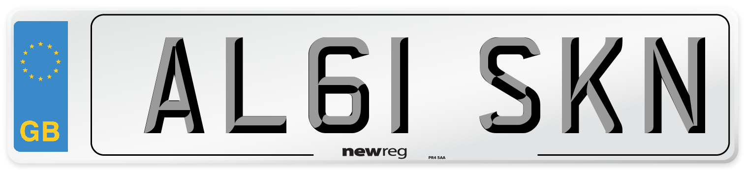 AL61 SKN Number Plate from New Reg