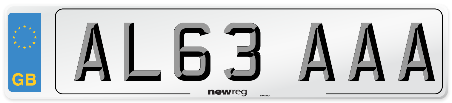 AL63 AAA Number Plate from New Reg
