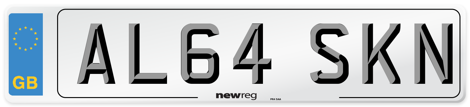 AL64 SKN Number Plate from New Reg