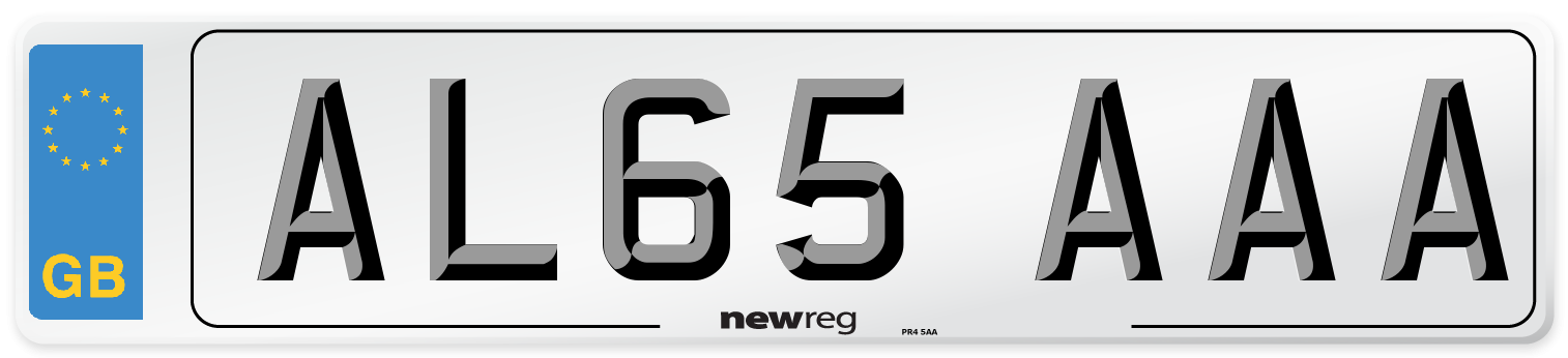 AL65 AAA Number Plate from New Reg