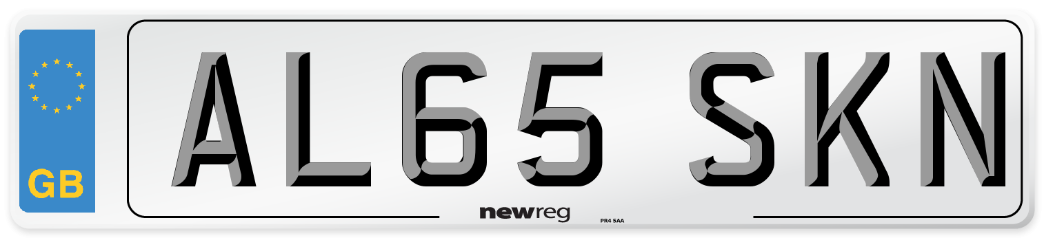 AL65 SKN Number Plate from New Reg