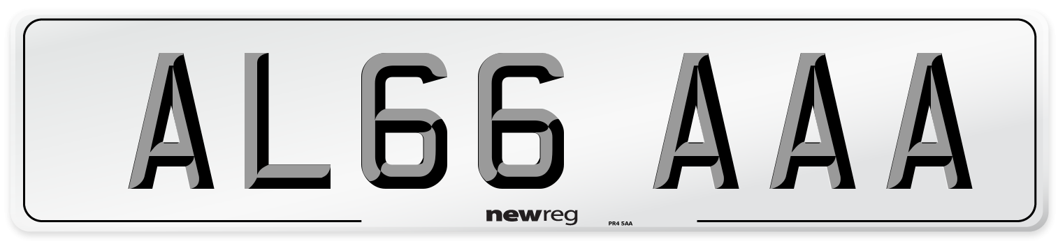 AL66 AAA Number Plate from New Reg