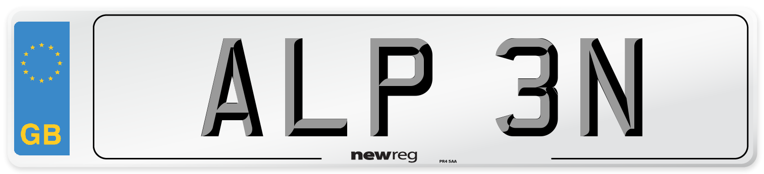 ALP 3N Number Plate from New Reg