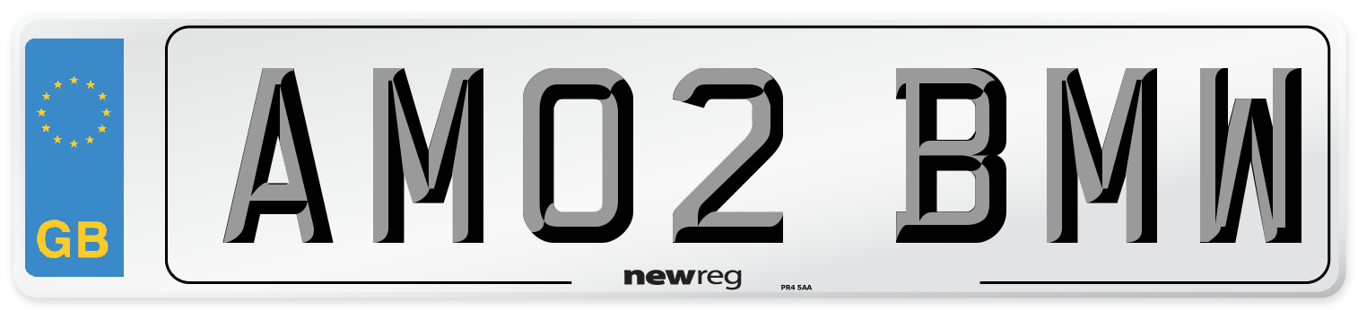 AM02 BMW Number Plate from New Reg