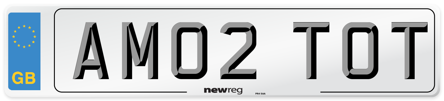 AM02 TOT Number Plate from New Reg