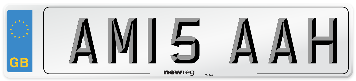 AM15 AAH Number Plate from New Reg