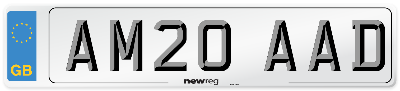 AM20 AAD Number Plate from New Reg