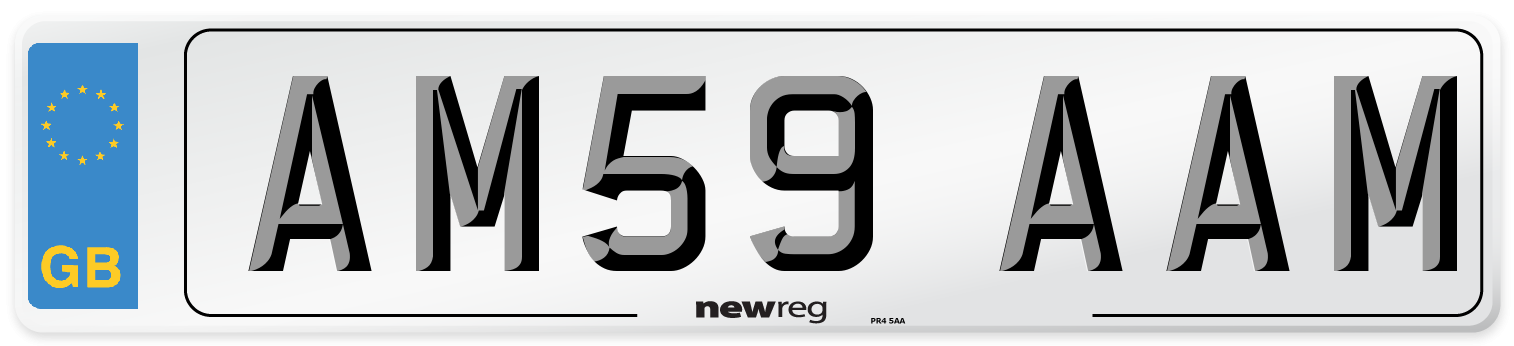 AM59 AAM Number Plate from New Reg