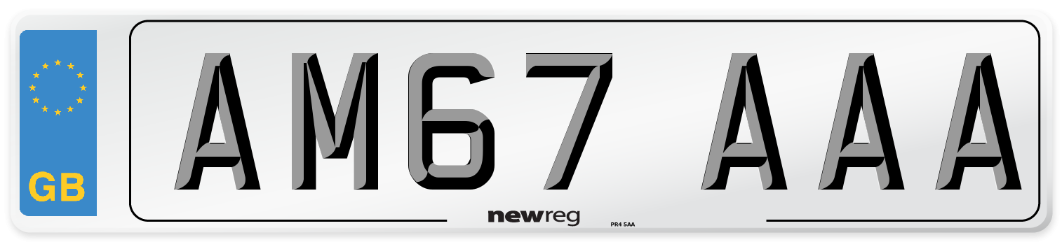 AM67 AAA Number Plate from New Reg