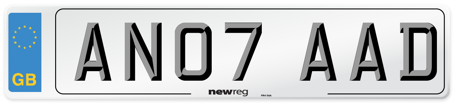 AN07 AAD Number Plate from New Reg