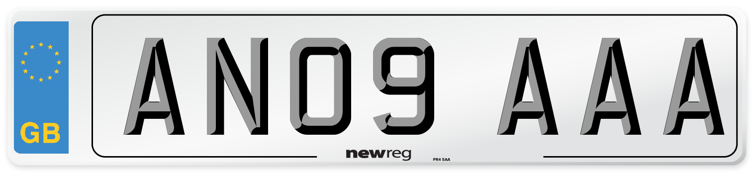 AN09 AAA Number Plate from New Reg