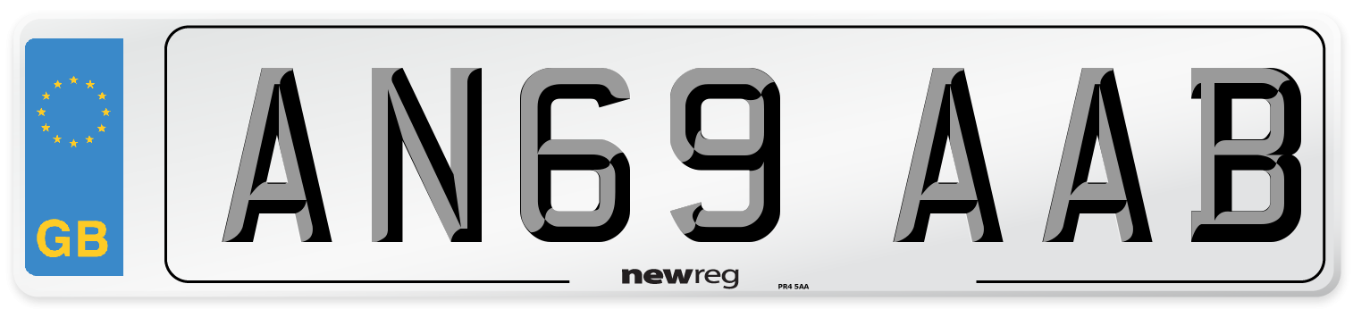 AN69 AAB Number Plate from New Reg