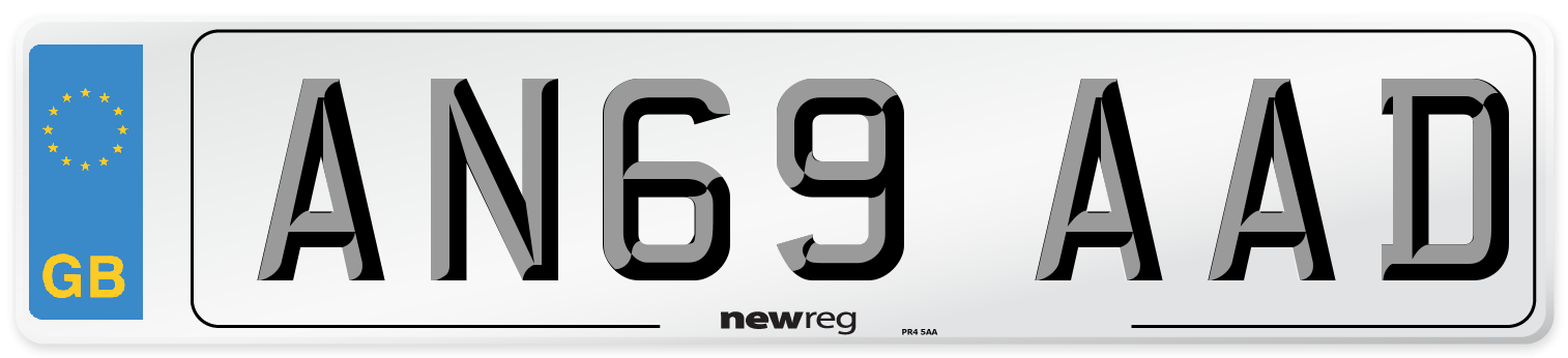 AN69 AAD Number Plate from New Reg