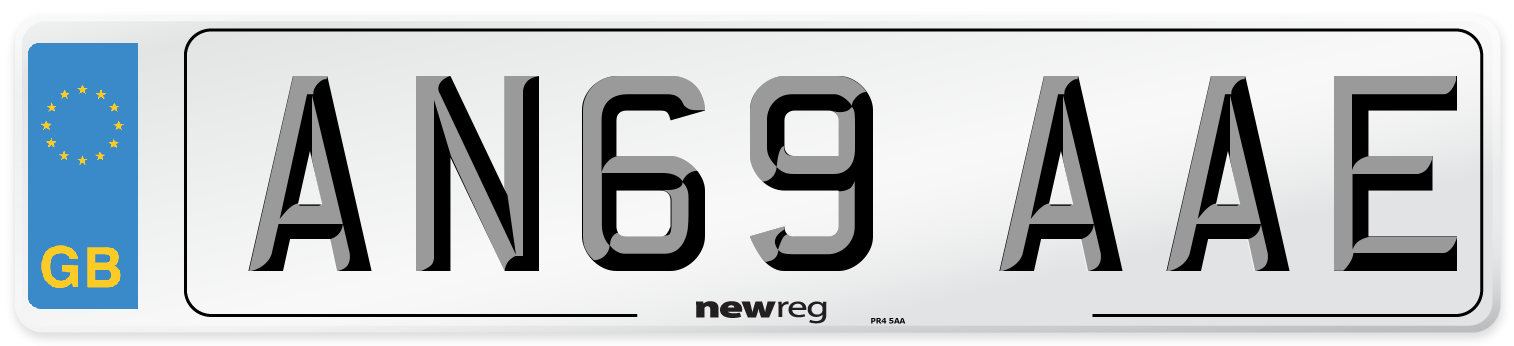 AN69 AAE Number Plate from New Reg