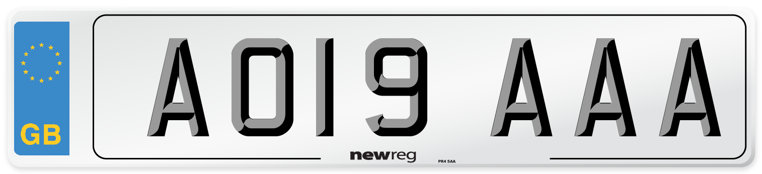 AO19 AAA Number Plate from New Reg