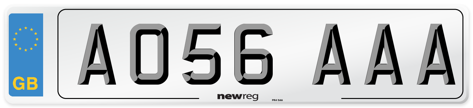 AO56 AAA Number Plate from New Reg
