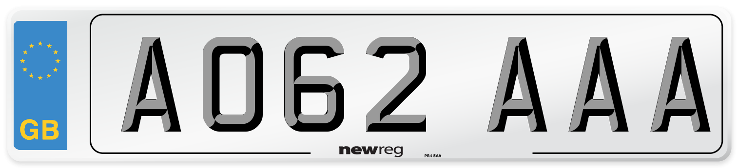 AO62 AAA Number Plate from New Reg